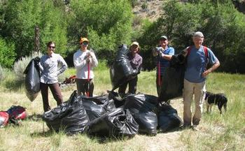 PHOTO: Noxious weeds are no match for the Friends and Neighbors of the Deschutes Canyon Area. They made quite a haul on BLM land in July. Photo courtesy of 'FANS.'