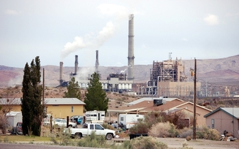 PHOTO: Moapa Reservation and Reid Gardner coal-fired power plant. Credit: Sierra Club