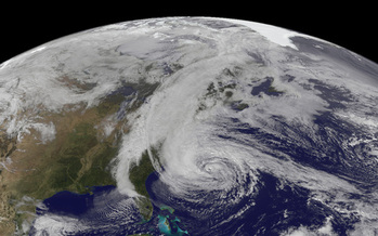 PHOTO: Nine months after Superstorm Sandy devastated New York's coastline, hospitals on Long Island are reporting a spike in the birth rate. Courtesy NASA.