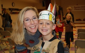 Photo: Kelly Langston with son at a school event. Courtesy: Langston