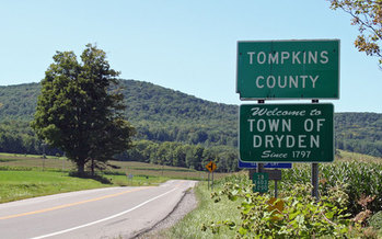 PHOTO: New York's highest court will hear an appeal from a foreign-owned energy company that wants to start hydraulic fracturing, or fracking, for natural gas underneath two upstate towns - Dryden and Middlefield - which have banned drilling. Courtesy Town of Dryden