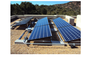PHOTO: Solar panels. Solar energy provides capacity to offset the need of fossil fuel generation. It�s future is threatened in New Mexico by changes to the PRC�s rule that enforces the Renewable Energy Act. Photos taken by Tracy Hughes of her new rooftop solar system in Santa Fe, NM.