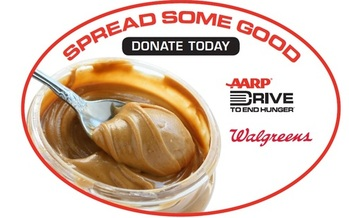IMAGE: To help older Ohioans who may need food assistance, AARP Ohio and Walgreens stores are joining forces this month to raise money for the bulk purchase of low-salt, low-sugar peanut butter. Courtesy AARP-Ohio.