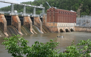 Photo: Hydropower dams at Yadkin River. Courtesy: Yadkin Riverkeeper