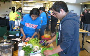 PHOTO: Yakima Valley teens use their nutritional knowledge and cooking skills to create healthy recipes in