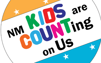 According to the Annie E. Casey Foundation Kids Count Data Book, child well-being in New Mexico has fallen to last place. Advocates are looking at what can be done to improve child security in the state.<br />GRAPHIC: Kids Are Counting on Us logo. Courtesy: NM Voices for Children.<br />
