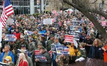 PHOTO: After mass protests and the threat of a strike, Patriot Coal negotiated a deal with the UMWA to cover some retiree costs. But the unions say the fact that Patriot was almost able to dump its responsibilities is a sign that corporate bankruptcy law is broken. Photo courtesy UMWA.