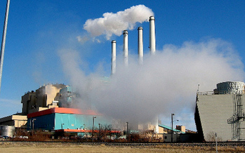 PHOTO: Some of Washington's electricity is generated in Montana at the Colstrip coal-fired power plant, co-owned by several utility companies. Photo credit: Ambimb on Flickr.