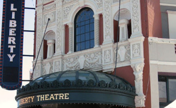 PHOTO: Astoria's Liberty Theatre is a gem of vintage restoration, and the site of this week's Oregon Main Street Conference on reviving downtown areas. Photo credit: Sara Absher, on 'astoriaoregondailyphoto@blogspot.com'