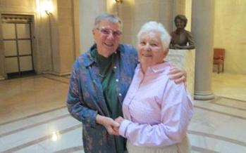 Photo: Judy Pflum and Carol Weiser just moments after their marriage in San Francisco. Courtesy: Pflum and Weiser