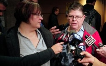 PHOTO: April DeBoer and Jayne Rowse are at the center of a lawsuit that could legalize same-sex marriage in Michigan. Photo courtesy of Nessel Law.
