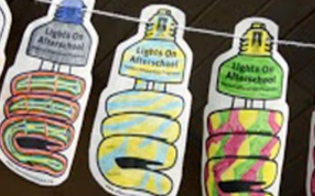 PHOTO:Over 170 Illinois programs and hundreds of kids and families today are celebrating Lights On Afterschool day. Photo:light bulb art. Courtesy: The Afterschool Alliance.