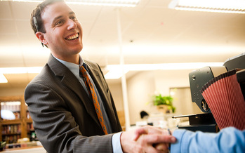 PHOTO: Drew Reisinger has become the first Register of Deeds in the state to accept applications for same-sex marriage. Photo courtesy of Reisinger.