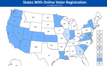 IMAGE: Minnesota is the 15th state to offer online voter registration. Courtesy MN Secretary of State's office.