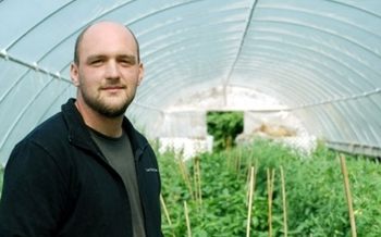 Vegetable grower Tim Huth says proposed new rules for food safety won't really do much to increase food safety, and could put growers like him out of business. Photo credit: Liz Setterfield, Third Coast Daily.