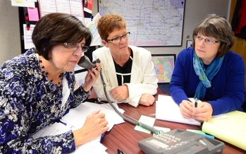 PHOTO: Kris Gross and other SHIIP experts participate in last week's AARP Iowa teletown hall on Medicare open enrollment with more than 20,000 Iowans.