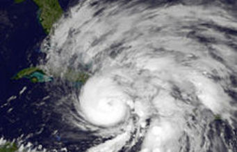 Image: National Weather Service image of Sandy one year ago today. Advocates say the nonprofit sector has been making great strides helping New Yorkers return to normal, but they are concerned about next storm.