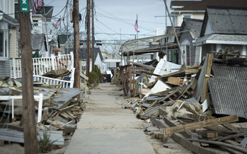 PHOTO: The devastation wreaked on homes, like these in Long Beach, NY, by Hurricane Sandy has left many children emotionally vulnerable. Nassau Thrives, a new program funded by the state, aims to help them cope and become more resilient. Courtesy FEMA.