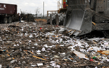 PHOTO: A lot of progress has been made in waste reduction since the first America Recycles Day in 1997, but much work remains, with only about one-third of trash in the U.S. recycled. Photo credit: M. Glasgow.
