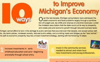 GRAPHIC: A new report questions what more than a decade worth of deep budget cuts has done for the state, and offers suggestions for improving Michigan's economy through investments and new revenue sources. Courtesy Michigan League for Public Policy.