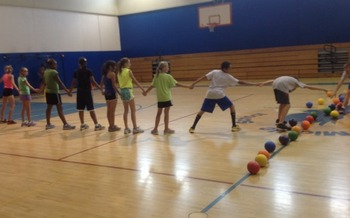 Photo: Students at Skyview Middle School in Colorado Springs participate in PE. Courtesy: Anthony Marino