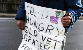 PHOTO: Veterans make up 11 percent of Oregon's population, but 20 percent of the households that visited Oregon Food Bank locations in 2012 included a veteran. Photo credit: iStockphoto.com.