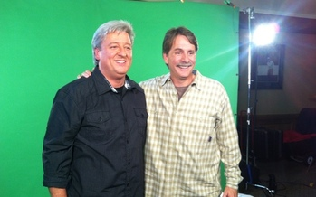 PHOTO: Peter Rosenberger and Jeff Foxworthy. Courtesy AARP TN.