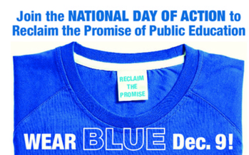 ILLUSTRATION: Teachers, parents, and even some school officials will be wearing blue Monday to symbolize what they see as a sad situation in New York's public schools. It's part of a national