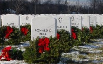 PHOTO: 8,468 wreaths will be laid on the graves of servicemen and women at the Great Lakes National Cemetery on Saturday, as part of Wreaths Across America. Photo courtesy of Wreaths Across America Great Lakes Chapter.