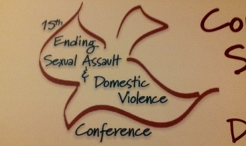 PHOTO: Domestic violence protection advocates attending an annual conference in Lexington were  urged by the House Judiciary Chairman to help push a dating-violence protectection law through the Kentucky General Assembly. Photo by Greg Stotelmyer.