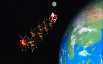 PHOTO: Indiana children can follow Santa's trek across the globe with the North American Aerospace Defense Command�s Santa Tracker.