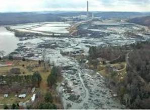 Photo: Kingston, TN Coal Ash Spill, Dec. 22, 2008. Courtesy: Cleanenergy.org