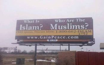 PHOTO: A campaign aimed at educating Michiganders about Islam has taken to local highways, newspapers, and radio. Photo credit: M. Shand.