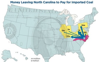 GRAPHIC: A new report says North Carolina power producers spent $1.8 billion in 2012 on imported coal. Courtesy Southern Alliance for Clean Energy
