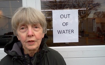 PHOTO: West Virginians like Marilyn McGeorge who have not been able to drink their tap water say the lesson of the chemical spill is to better protect our waterways. Photo credit: Dan Heyman