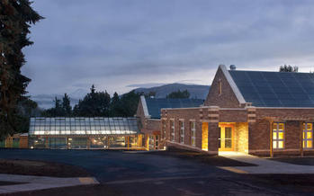 PHOTO: The science and music building at Hood River Middle School is one of a tiny but growing number of