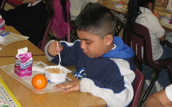 PHOTO: The Gem State is ranked 16th in today's School Breakfast Scorecard from the Food Research and Action Center (FRAC). And the Boise School District is ranked first among 63 districts studied. Photo courtesy USDA.