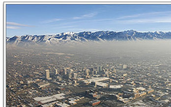 PHOTO: Utah's severe air quality issues appear to be a priority as the Utah Legislature goes into session today. Photo credit: Utah Division of Air Quality.