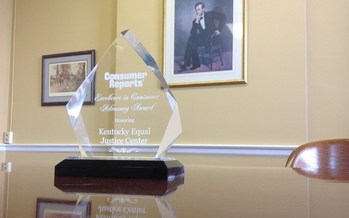PHOTO: Consumer Reports has honored the Kentucky Equal Justice Center with its Excellence in Consumer Advocacy Award. Photo Courtesy of Rich Seckel.