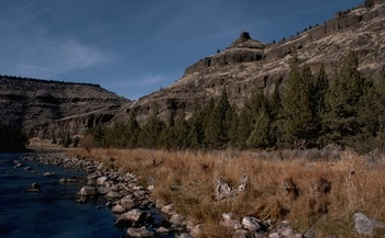 PHOTO: Sportsmen say some of the best fishing spots on the Crooked River aren't accessible to the public because adjacent land is in private hands. An LWCF grant could change that. Photo credit: BLM Prineville office.