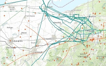IMAGE: FracTracker has a new map highlighting current and proposed pipelines that would run through the Buckeye State. Image credit: FracTracker.