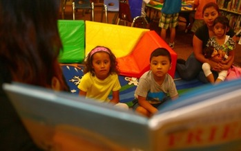 PHOTO: Parents are encouraged to read to their children during