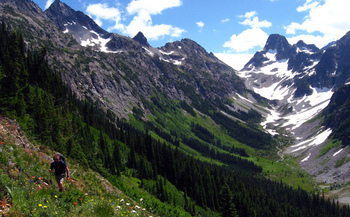 PHOTO: In addition to breathtaking views of places such as Fisher Peak, the North Cascades National Park complex reported contributing $26.4 million to the local economy in 2013. Photo credit: Autumn Carlsen, National Park Service.