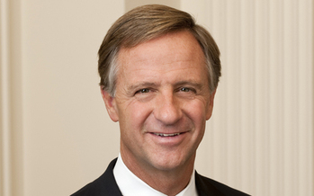 PHOTO: Gov. Bill Haslam cites a revenue shortfall in Tennessee as his reason for reversing course and eliminating planned salary hikes for teachers and other state workers. Photo credit: Gov. Haslam's office.