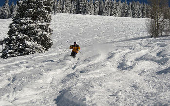 Photo: Vail has received about 50 inches more snow than it did at this time last year. Photo courtesy of Brendan Gray