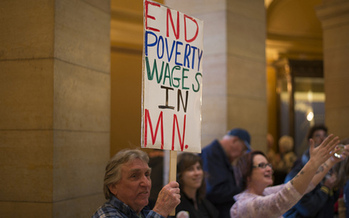 PHOTO: Gov. Mark Dayton is expected to sign the minimum wage bill on Monday, raising the minimum to $9.50 an hour by 2016. Photo credit: Fibonacci Blue