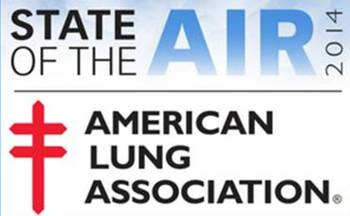 GRAPHIC: The American Lung Association's annual State of the Air report shows that Wisconsin's hot summer led to worse ozone pollution, which the ALA calls a challenging situation with changing climate. (SOTA logo provided by ALA-WI