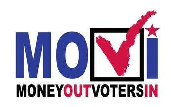 IMAGE: The Money Out/Voters In Coalition is a sponsor of California Senate Bill 1272, which seeks to overturn the U.S. Supreme Court's 2010 Citizens United ruling that found restricting political spending by corporations violated free speech. Image courtesy: MOVI