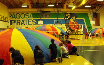 PHOTO: Making P.E. fun is one strategy used by Pagosa Springs Middle School. It has been named one of Colorado's