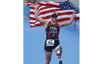PHOTO: Melissa Stockwell lost her leg to an IED in Iraq, but that didn't stop her from becoming a world champion athlete. She's speaking in West Virginia this week. Photo courtesy of Stockwell.